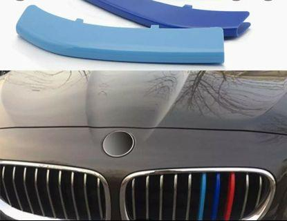 ///M For BMW 3 4 5 x3 x4 x5 x6 F18 F30 F35 3 Colors ABS 3D M Car Styling Front Grille Trim Strips Cover Mot...