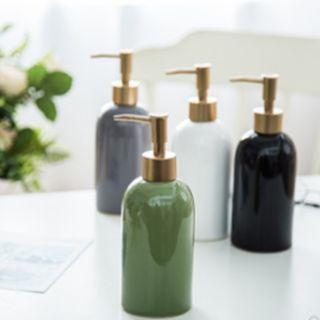 [Set of 2] Ceramic Shampoo/Soap Dispenser/ Refill Bottle
