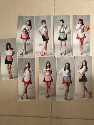 SNSD Goobne Photocards Complete Set of 9