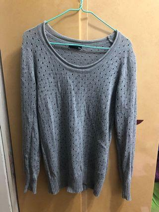 灰色冷衫 grey knit top