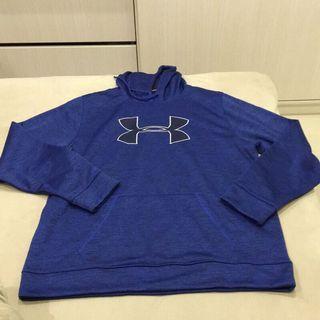 (全新)UNDER ARMOUR藍色長袖連帽T恤/長袖連帽Tshirt  XL號