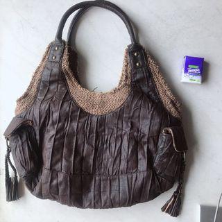 Leather Bag 99%new 啡色皮手袋