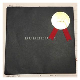 Burberry包裝紙袋($20/4個)(18x18cm)