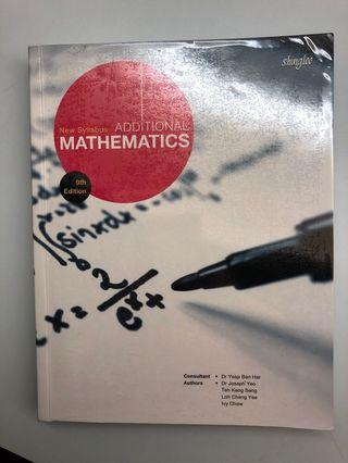 🚚 Shinglee Additional Mathematics Textbook
