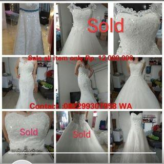 Sale Wedding gown-new and preloved