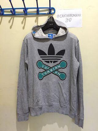 Hoodie Adidas Trefoil Torsion - Grey