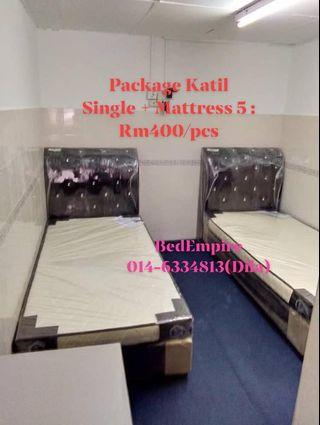 KATIL SINGLE + Mattress 5""