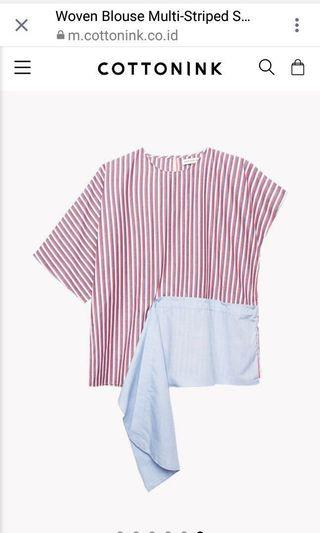 Cottonink Top Asimetris Stripes
