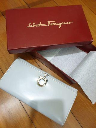 Ferragamo White Wallet