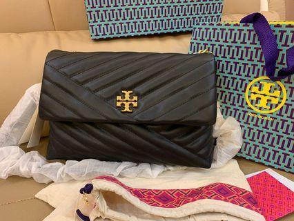 Ready Stock Authentic Tory Burch Kira chelvon flap bag  handbag sling bag