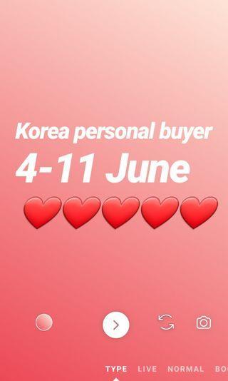 Korea personal buyer/ purchasing / buying service