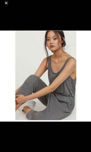 H&M Grey Jumpsuit