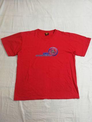 🚚 Ngu古著  smile大logo紅色素T 恤
