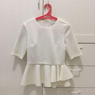Love Bonito peplum white top