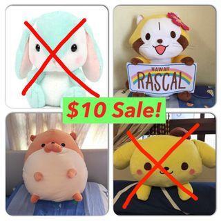 (Sale!) Toreba plushies for $10