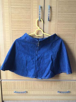 深藍色A字裙