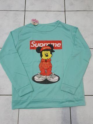 Kaos Sweater Lengan Panjang Dewasa
