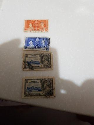 (USED) Strait Settlements Loose Stamp Lot.