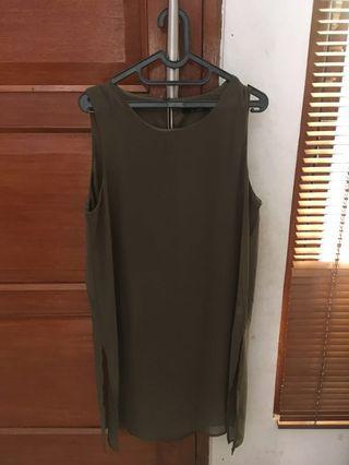 Cut sleeve plain blouse