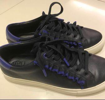 Tory Burch Sneakers Navy Ruffles shoes