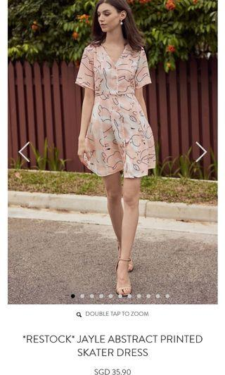 TCL Jayle abstract printed skater dress/ The Closet lover XS  Floral Dress