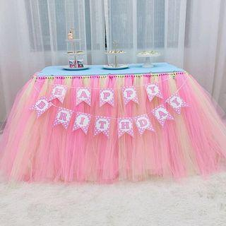 🚚 DIY Tutu sash / tulle roll/ tutu table skirt