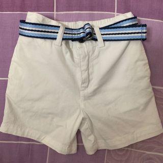 Ralph Lauren 12M 白色短褲 Belted Stretch Chino Shorts
