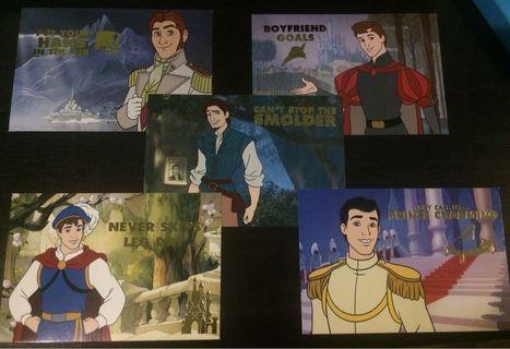 Disney Prince Postcards