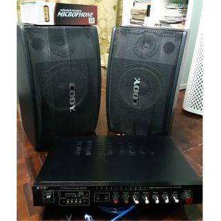 Karaoke Speaker Amplifier Set