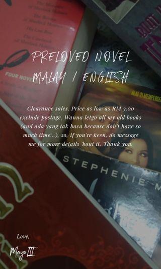 PRELOVED NOVEL MELAYU / ENGLISH
