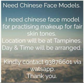 Face Volunteers for Makeup.
