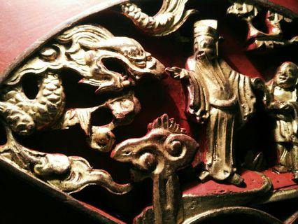 Chinese antique wood carving
