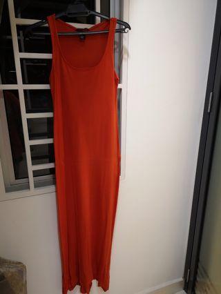 Casual orange dress