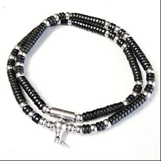 Last Piece Left!!! Single Hook Stainless Steel Coconut Beads Necklace For Thai Amulet