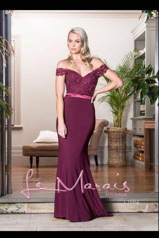 Evening gown plum
