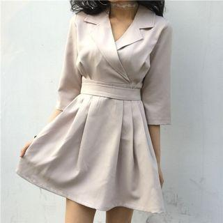 Korean Style V Neck Dress