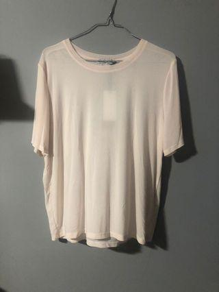 Pink light netted top
