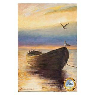 Painting - Sunset Boat
