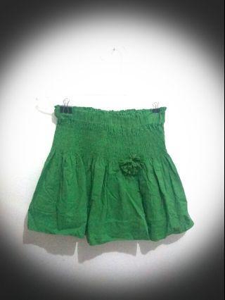 Green Skirt - rok mini hijau