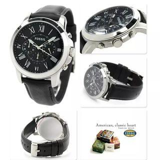 Fossil FS4812 Grant Black Leather Watch