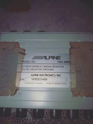 Alpine  mobile monitor tmx r 850