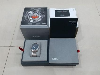 ORIS Swiss Stainless Steel, Front Sapphire Crystal, Water Resistant 5 Bar