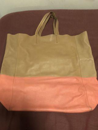 Authentic Celine Leather Tote Bag