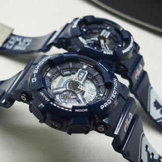Gshock Fila Couple Blue