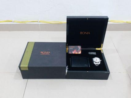 BONIA Anti Reflective Sapphire Crystal, Stainless Steel, 5 ATM Water Resistant