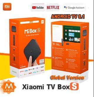 🚚 Xiaomi mi tv box s 4k ultra HD built in Chromecast 2019