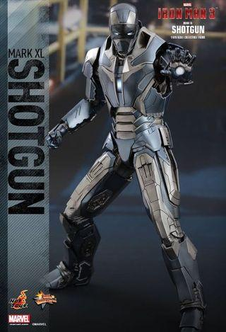 Hot Toys Iron Man 3 Iron Man Mark XL MK40 Shotgun Collectible Figure BIB