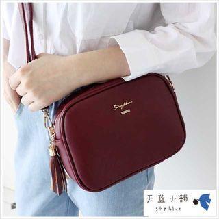 🚚 Skyblue Taiwan Simple Tasseled Crossbody Sling Bag