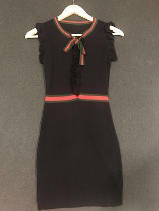 One Piece Bodycon Dress (Black color)