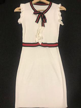 One Piece Bodycon Dress (White color)